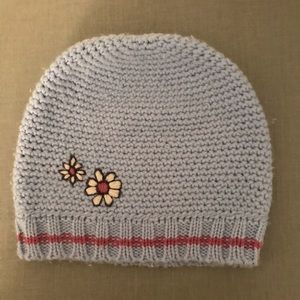 Blue and pink beanie